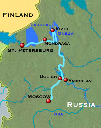 Russian River Cruise Map